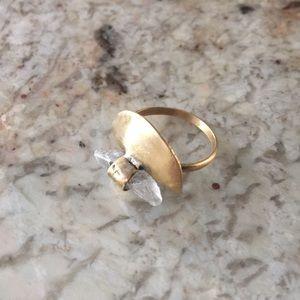 Handmade ring in brass